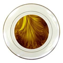 Flower Gold Hair Porcelain Plates by Alisyart