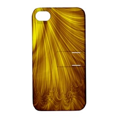 Flower Gold Hair Apple iPhone 4/4S Hardshell Case with Stand