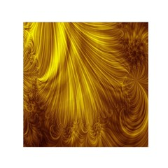 Flower Gold Hair Small Satin Scarf (square) by Alisyart