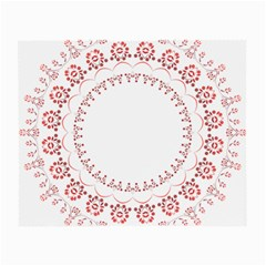 Floral Frame Pink Red Star Leaf Flower Small Glasses Cloth (2 Side) by Alisyart