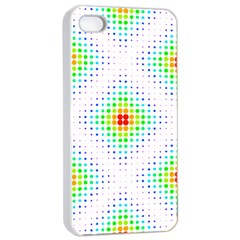 Color Square Apple Iphone 4/4s Seamless Case (white) by Simbadda
