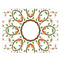 Frame Floral Tree Flower Leaf Star Circle Double Sided Flano Blanket (Large)