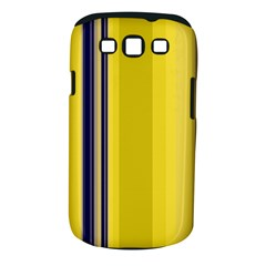 Yellow Blue Background Stripes Samsung Galaxy S III Classic Hardshell Case (PC+Silicone)