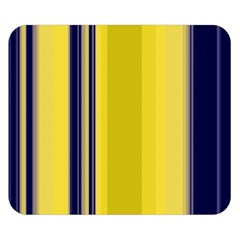 Yellow Blue Background Stripes Double Sided Flano Blanket (small)  by Simbadda