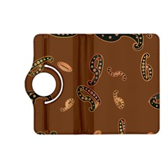 Brown Forms Kindle Fire Hd (2013) Flip 360 Case by Simbadda