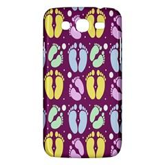 Baby Feet Patterned Backing Paper Pattern Samsung Galaxy Mega 5 8 I9152 Hardshell Case  by Simbadda