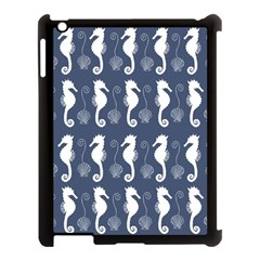 Seahorse And Shell Pattern Apple Ipad 3/4 Case (black)