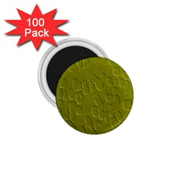 Olive Bubble Wallpaper Background 1 75  Magnets (100 Pack)  by Simbadda