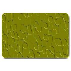 Olive Bubble Wallpaper Background Large Doormat