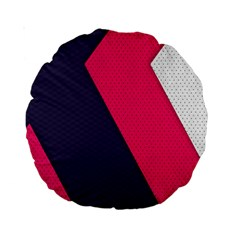 Pink Pattern Standard 15  Premium Round Cushions by Simbadda