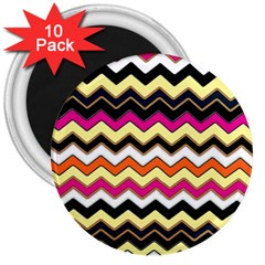 Colorful Chevron Pattern Stripes Pattern 3  Magnets (10 Pack)  by Simbadda