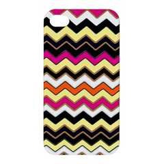 Colorful Chevron Pattern Stripes Pattern Apple Iphone 4/4s Hardshell Case by Simbadda