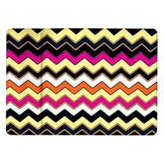 Colorful Chevron Pattern Stripes Pattern Samsung Galaxy Tab 10.1  P7500 Flip Case by Simbadda