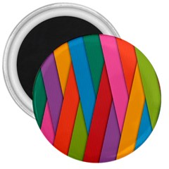Colorful Lines Pattern 3  Magnets