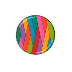 Colorful Lines Pattern Hat Clip Ball Marker (4 Pack) by Simbadda