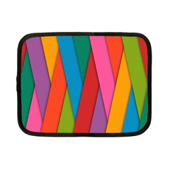 Colorful Lines Pattern Netbook Case (small)  by Simbadda