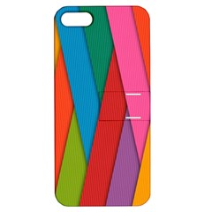 Colorful Lines Pattern Apple Iphone 5 Hardshell Case With Stand by Simbadda
