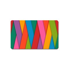 Colorful Lines Pattern Magnet (Name Card) by Simbadda