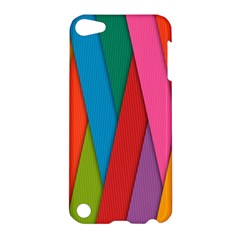 Colorful Lines Pattern Apple Ipod Touch 5 Hardshell Case by Simbadda