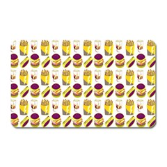 Hamburger And Fries Magnet (rectangular) by Simbadda
