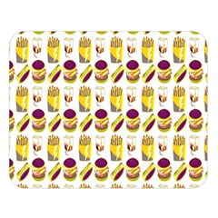 Hamburger And Fries Double Sided Flano Blanket (Large)  by Simbadda