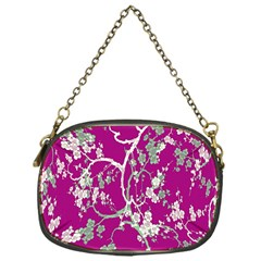 Floral Pattern Background Chain Purses (one Side)  by Simbadda