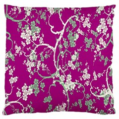 Floral Pattern Background Standard Flano Cushion Case (two Sides) by Simbadda