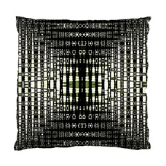 Interwoven Grid Pattern In Green Standard Cushion Case (two Sides) by Simbadda