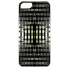 Interwoven Grid Pattern In Green Apple iPhone 5 Classic Hardshell Case