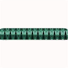 Green Triangle Patterns Small Bar Mats by Simbadda