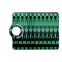 Green Triangle Patterns Kindle Fire Hd (2013) Flip 360 Case