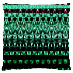 Green Triangle Patterns Standard Flano Cushion Case (one Side) by Simbadda