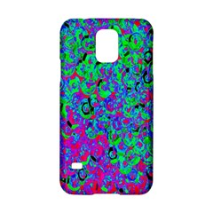 Green Purple Pink Background Samsung Galaxy S5 Hardshell Case  by Simbadda