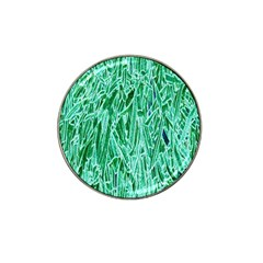 Green Background Pattern Hat Clip Ball Marker by Simbadda