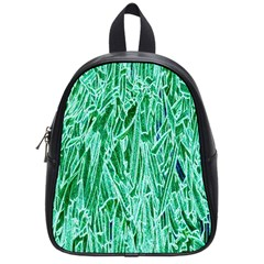 Green Background Pattern School Bags (small)  by Simbadda