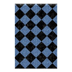 Square2 Black Marble & Blue Denim Shower Curtain 48  X 72  (small) by trendistuff