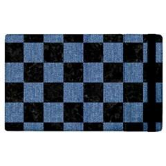 Square1 Black Marble & Blue Denim Apple Ipad 3/4 Flip Case by trendistuff