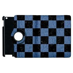 SQR1 BK-MRBL BL-DENM Apple iPad 2 Flip 360 Case