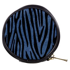 Skin4 Black Marble & Blue Denim Mini Makeup Bag by trendistuff