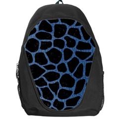 Skin1 Black Marble & Blue Denim (r) Backpack Bag by trendistuff