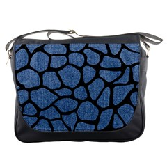 Skin1 Black Marble & Blue Denim Messenger Bag by trendistuff