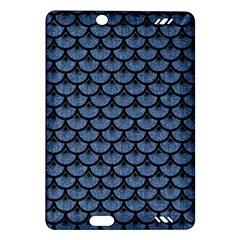 Scales3 Black Marble & Blue Denim (r) Amazon Kindle Fire Hd (2013) Hardshell Case by trendistuff