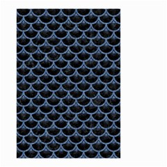 Scales3 Black Marble & Blue Denim Small Garden Flag (two Sides) by trendistuff