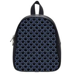 Scales2 Black Marble & Blue Denim School Bag (small) by trendistuff
