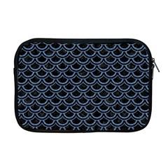 Scales2 Black Marble & Blue Denim Apple Macbook Pro 17  Zipper Case by trendistuff
