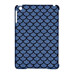 Scales1 Black Marble & Blue Denim (r) Apple Ipad Mini Hardshell Case (compatible With Smart Cover) by trendistuff