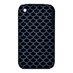 Scales1 Black Marble & Blue Denim Apple Iphone 3g/3gs Hardshell Case (pc+silicone) by trendistuff