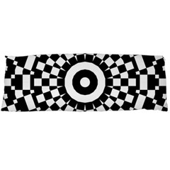 Checkered Black White Tile Mosaic Pattern Body Pillow Case Dakimakura (two Sides) by CrypticFragmentsColors