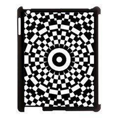 Checkered Black White Tile Mosaic Pattern Apple Ipad 3/4 Case (black) by CrypticFragmentsColors