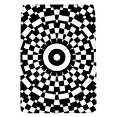 Checkered Black White Tile Mosaic Pattern Flap Covers (s)  by CrypticFragmentsColors